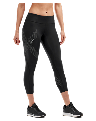 Picture of  2XU Women's Mid-Rise 7/8 Compression Tights