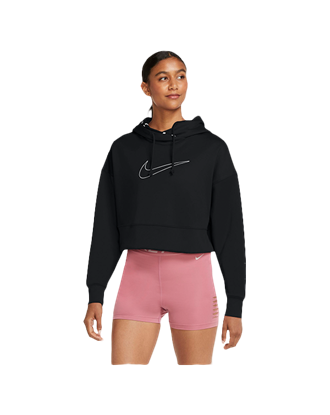 Picture of Nike Women's Therma All Time Cropped Pullover Training Hoodie - Black
