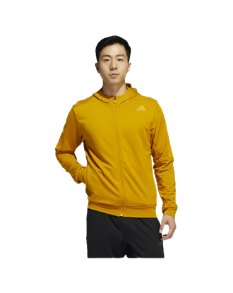 Picture of adidas Men's Aeroready 3 Stripe Old Winter Kint Hoodie - Yellow