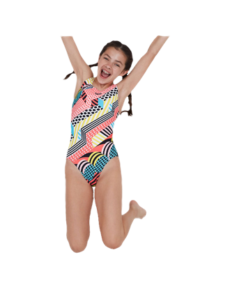 Picture of Speedo Girls' DazzleSpark Digital Placement Leaderback Swimsuit