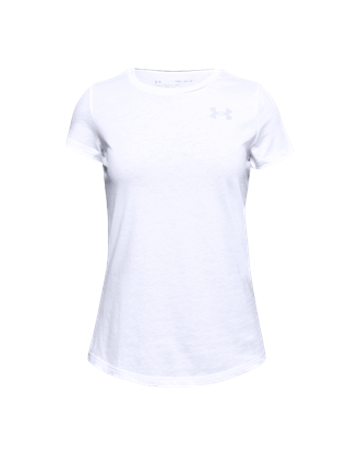 Picture of Under Armour Girls' Live Short-Sleeve Crew Shirt - White